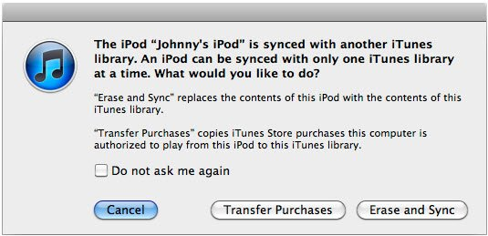 sync message itunes