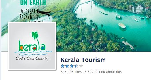 FB ratings on Kerala Tourism