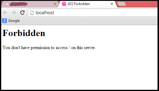 forbidden error msg