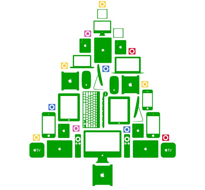 apple christmas tree