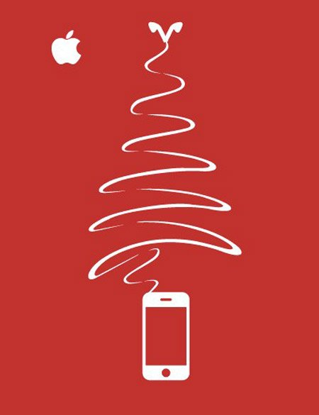 iphone chrismas tree