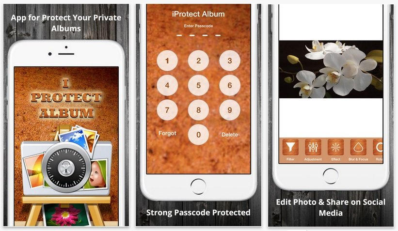 iprotect album iphone app