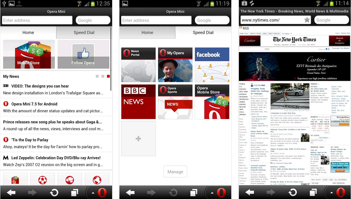 opera feat android application