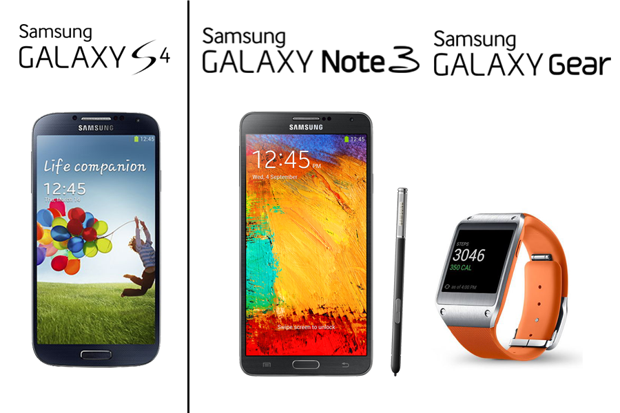samsung galaxy s4 note3 gear
