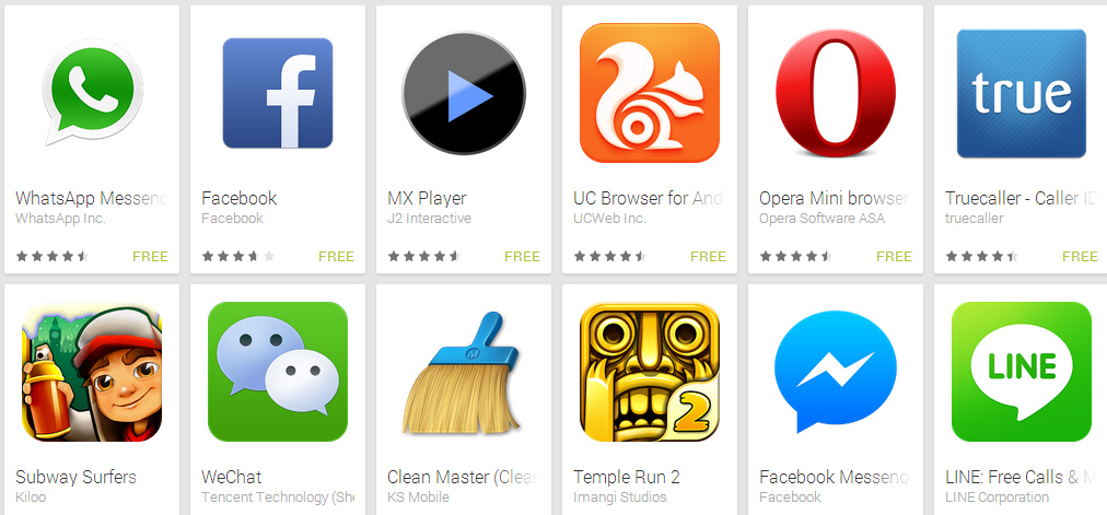 best free android phone applications