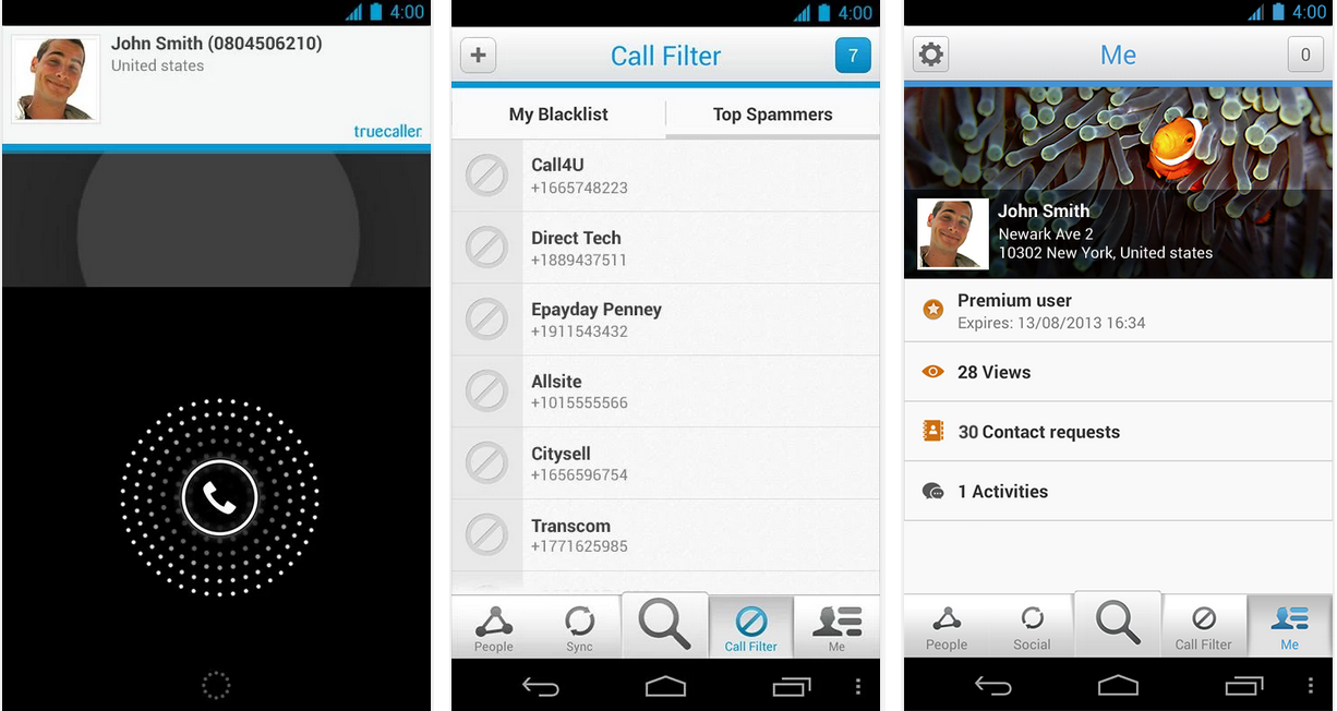 truecaller feat android application