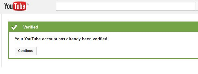 verify Youtube website