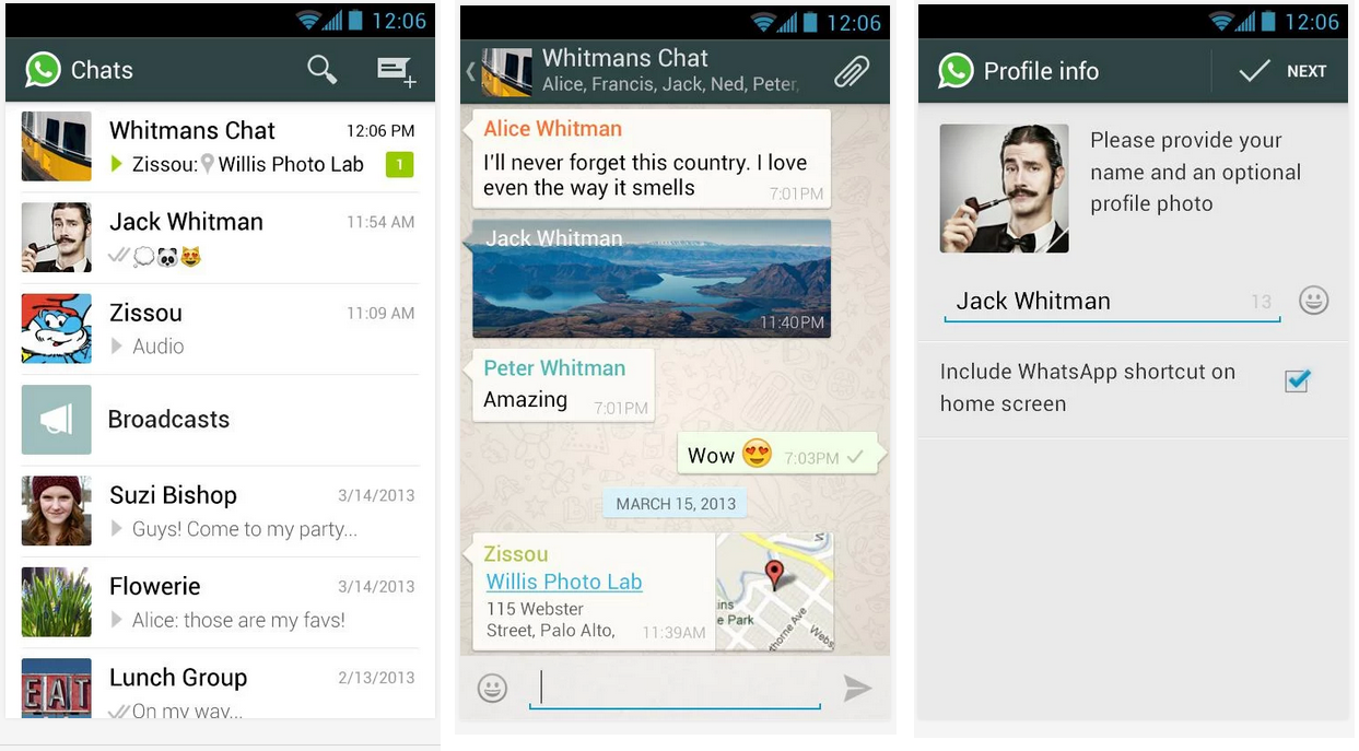 whatsapp feat android application