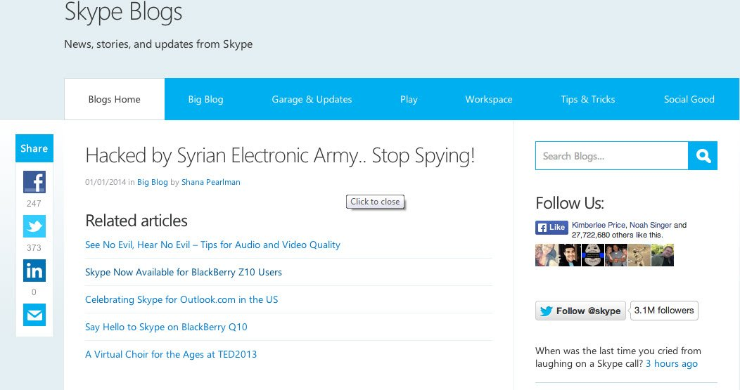 Skype Blog Hacked
