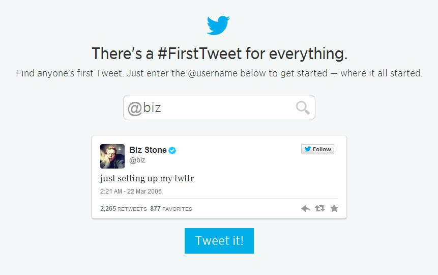 biz first tweet