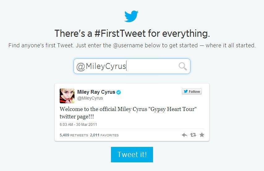 cyrus first tweet
