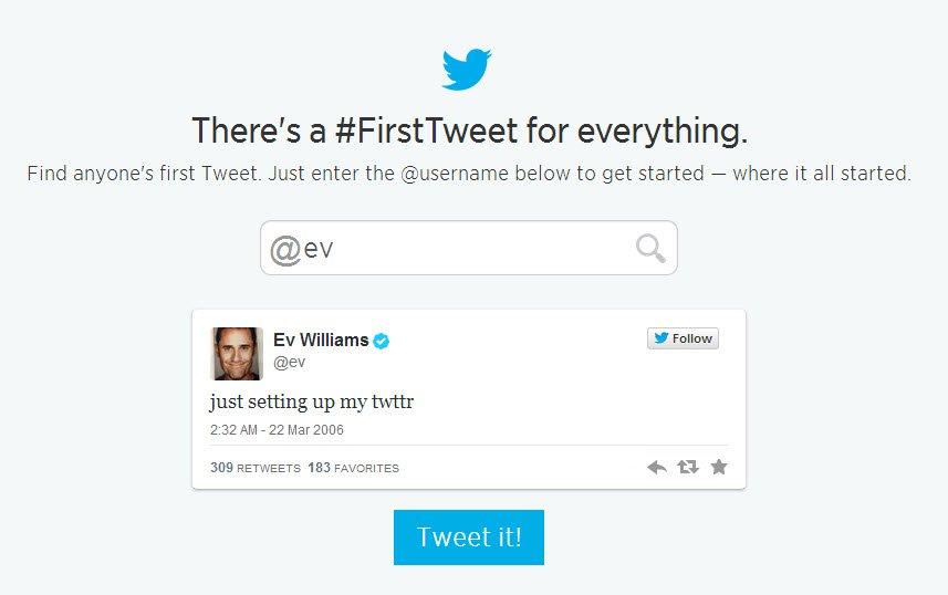 ev first tweet