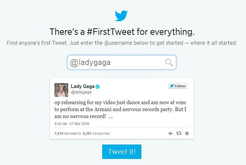 ladygaga first tweet