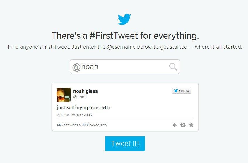 noah first tweet