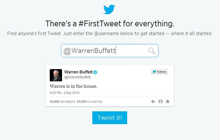 warren buffet first tweet