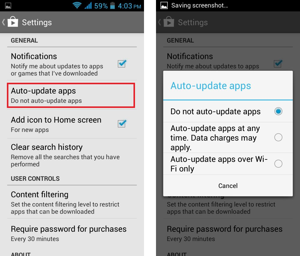 android autoupdate apps