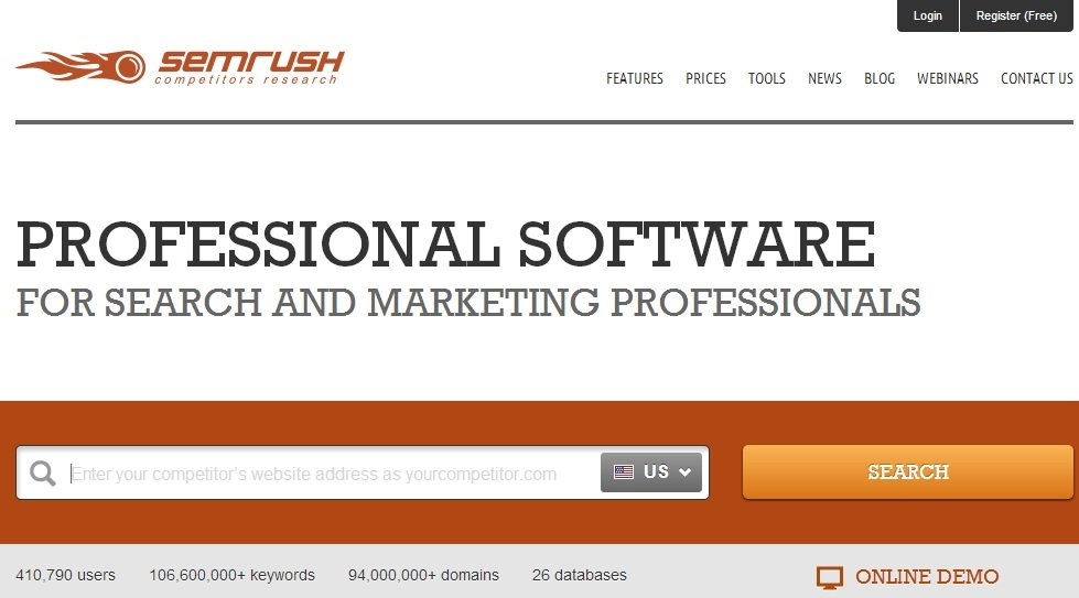 SEMRush Screen
