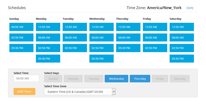 scheduling option social pilot