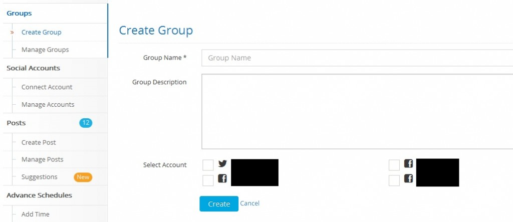 socialpilot create group