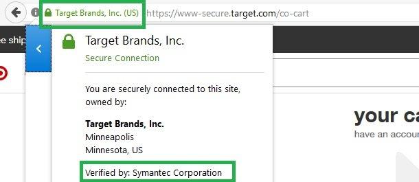 target ssl certificate