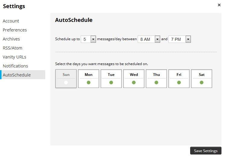 hootsuite auto schedule