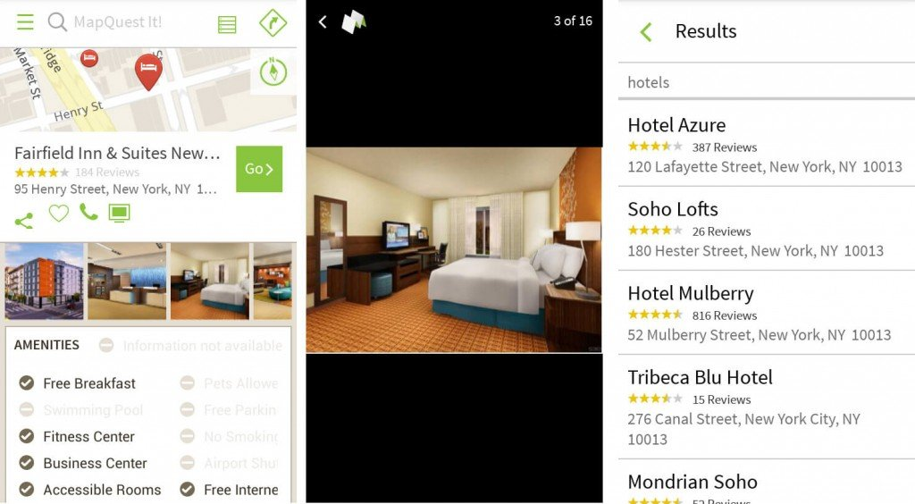 mapquest hotel