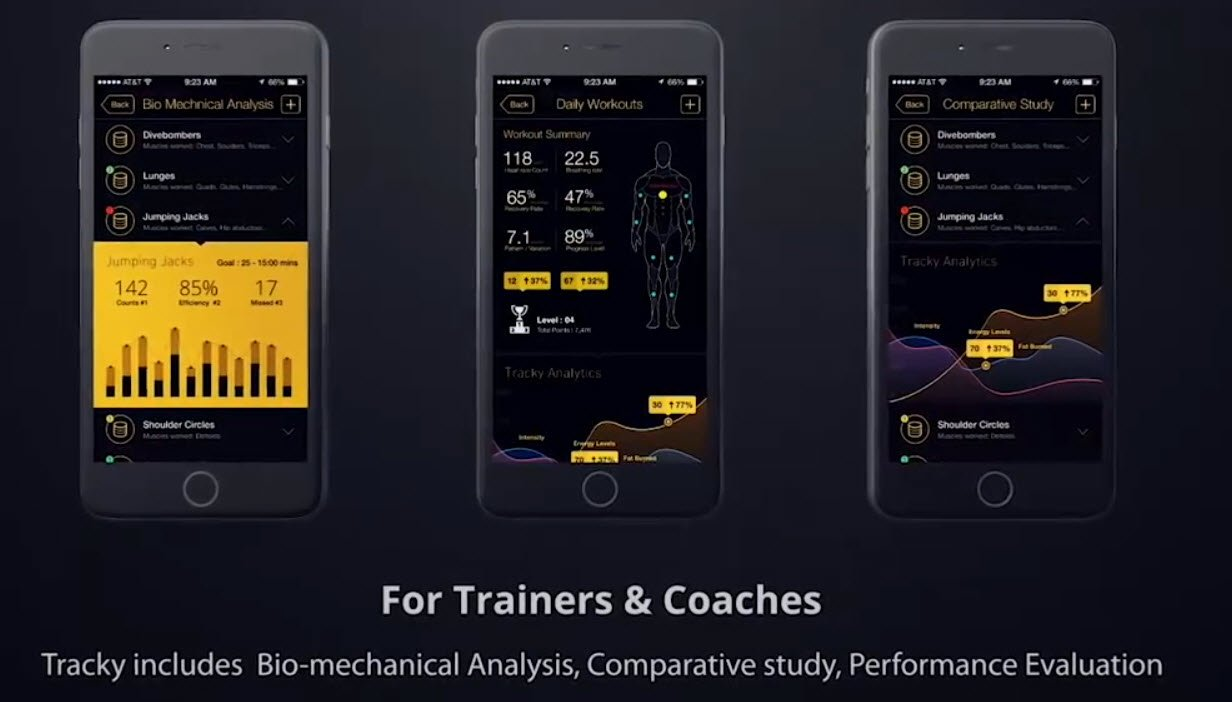 monior movements in app