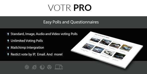 Votr Pro - Easy WordPress Vote Poll Plugin