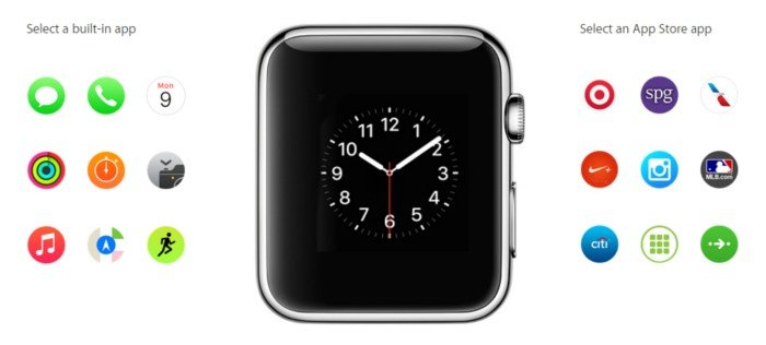 inbuilt apps apple watch