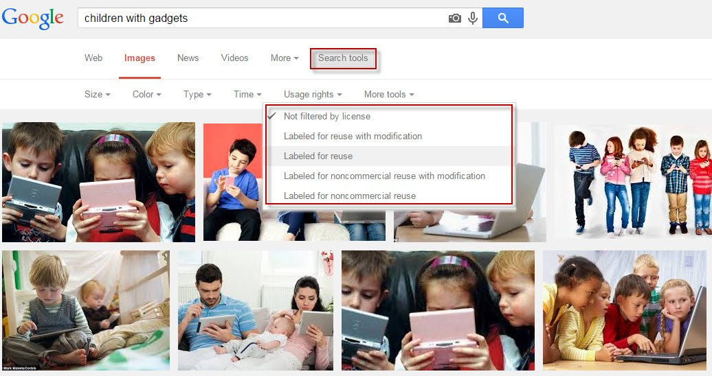 how to get direct link to google image search