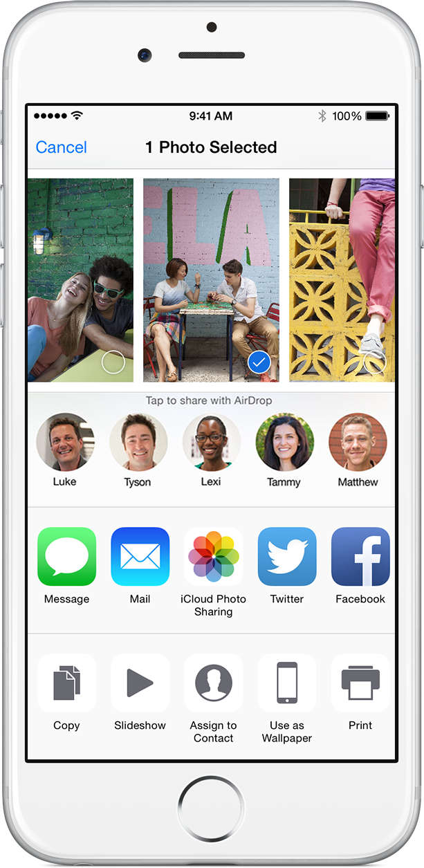 ios8 share moments