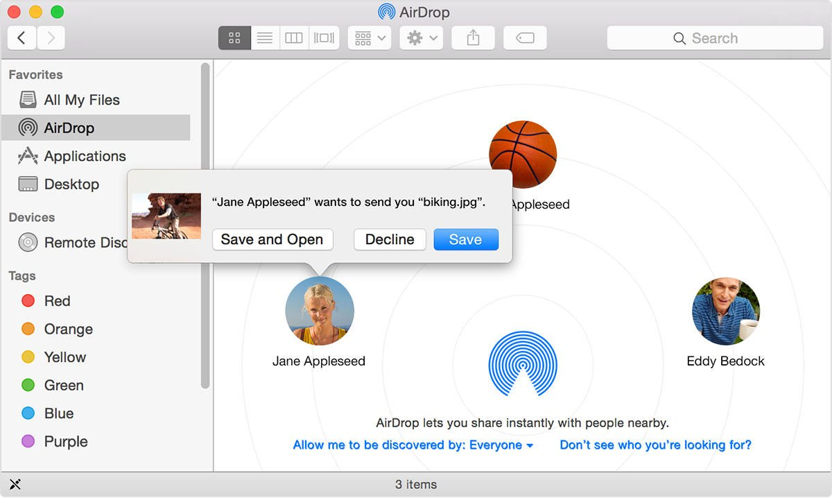 how to receive airdrop on mac