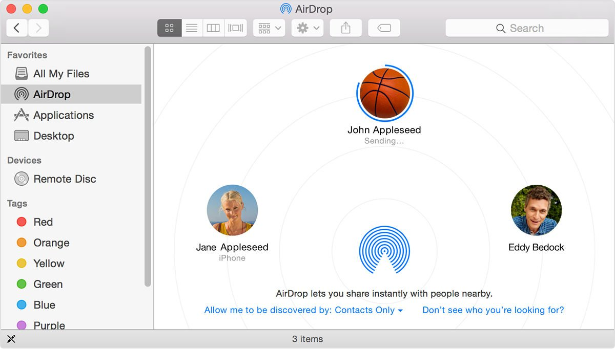 Steps To Share Content On Mac Devices Using Airdrop
