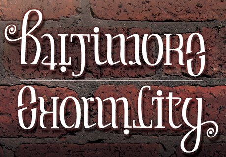 Baltimore Ambigram Design