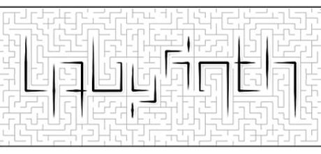 Labyrinth Ambigram Design