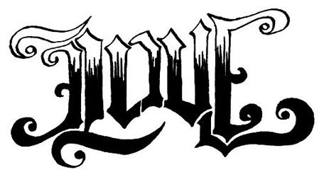 Love Hate Ambigram Design