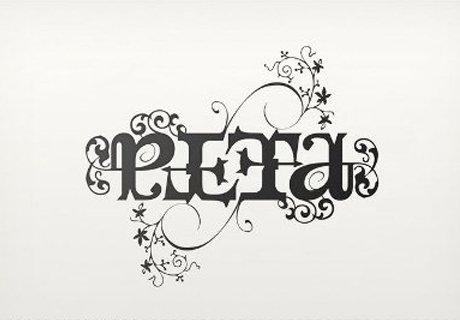 PETA Ambigram Design