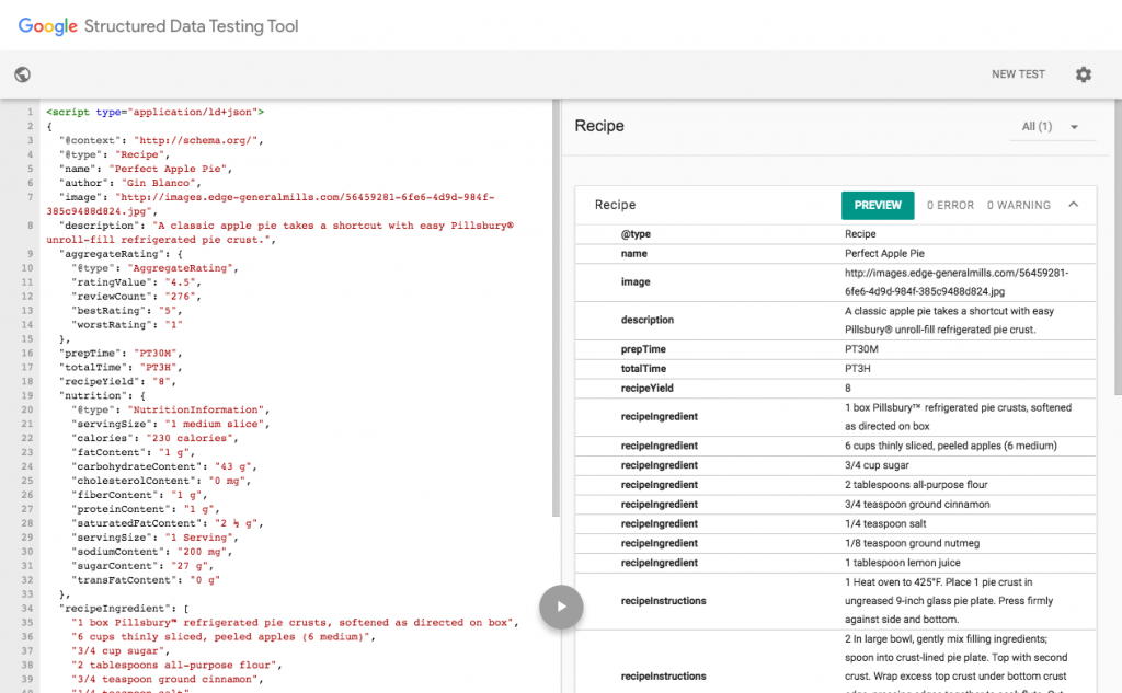 structured data testing tool