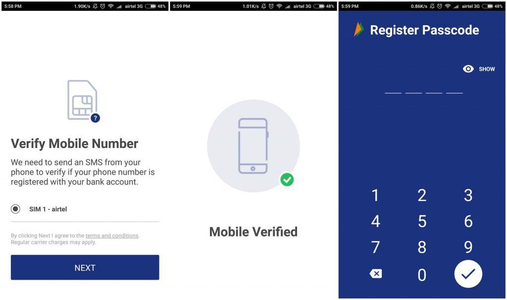 bhim phone number verification