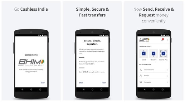 bhim upi app india