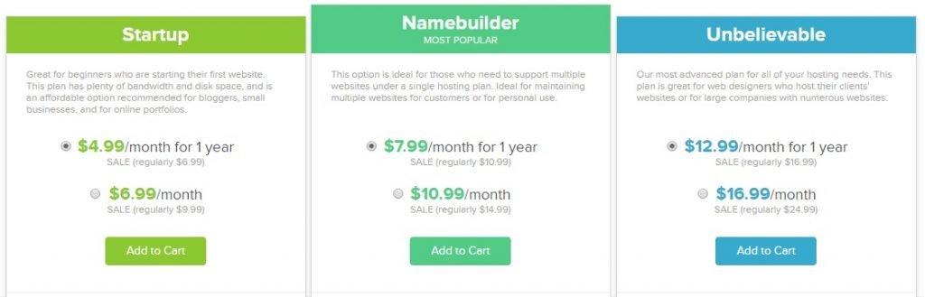 Name.com hosting plans