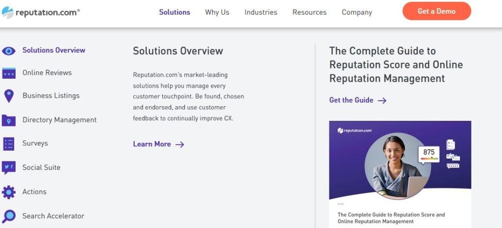 reputation enterprise review provider