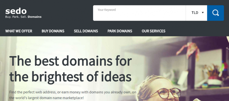 sedo- buy & sell domains platform