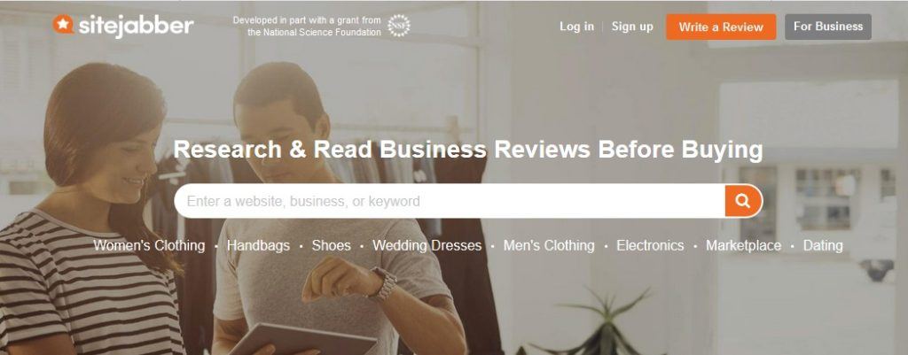 Sitejabber review website