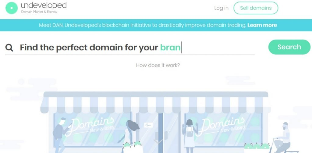 undeveloped domain marketplace