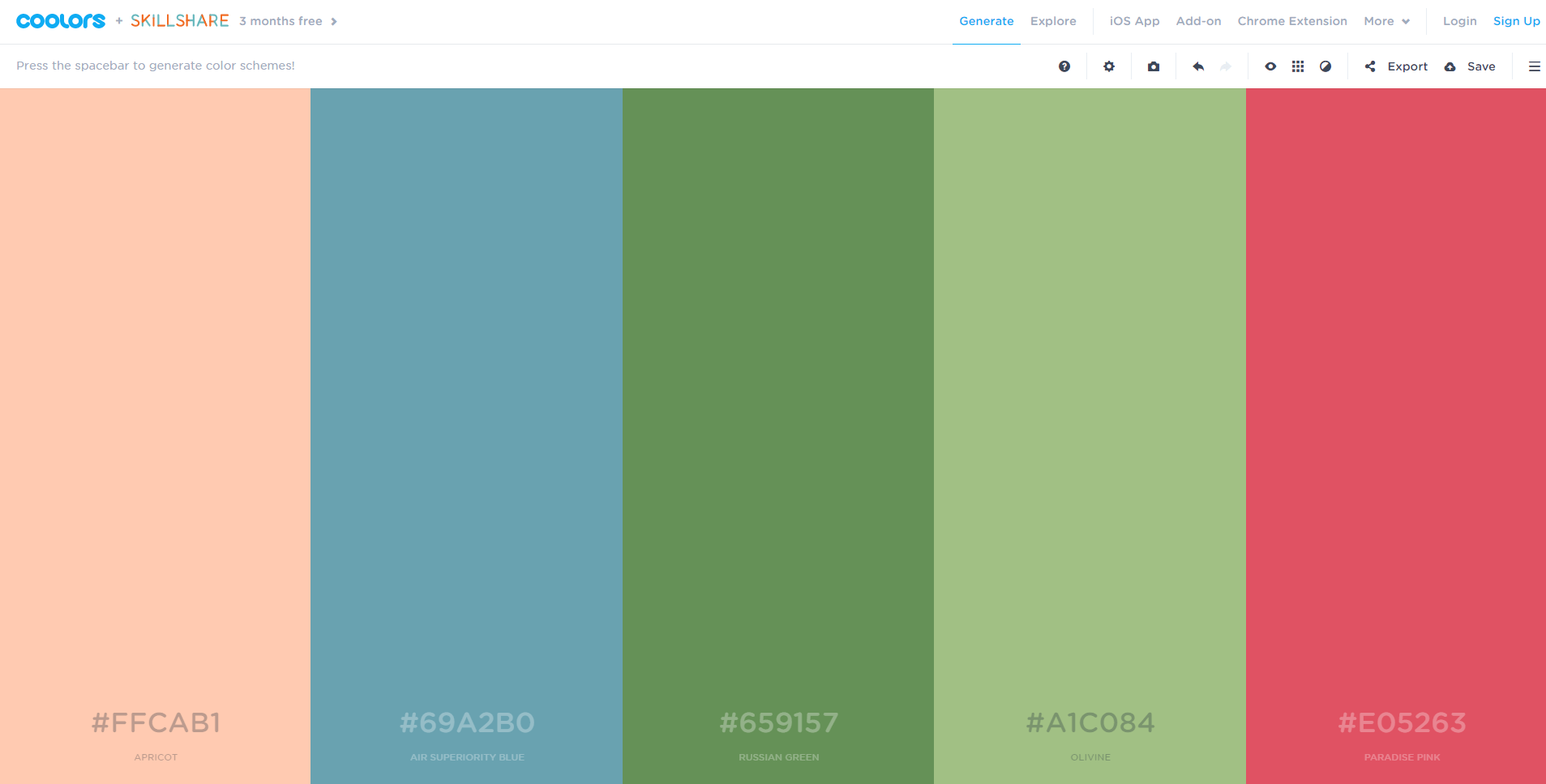 While There Are Hundreds Of Existing Color Schemes That The Website Suggests