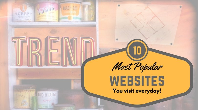 popular websites visits everyday
