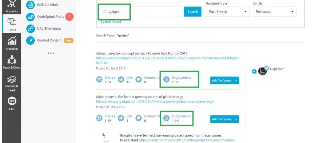 socialpilot content discovery feature