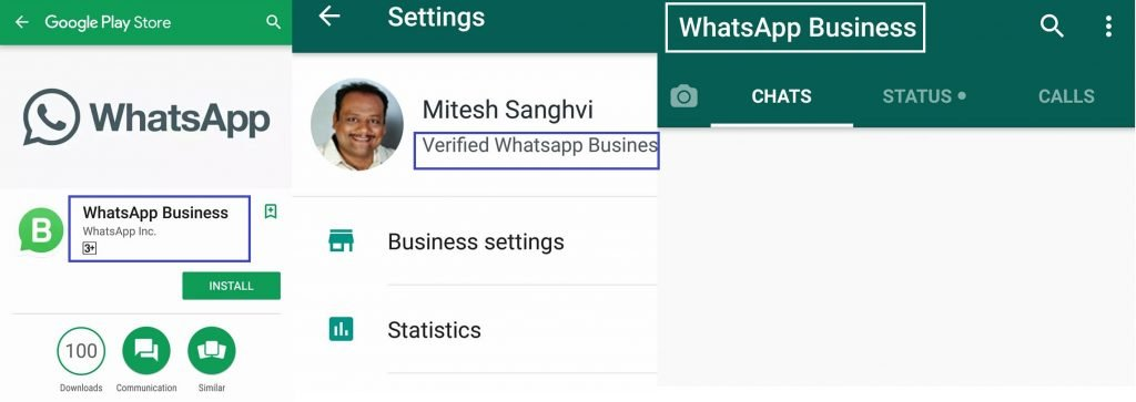 WhatsApp business profile