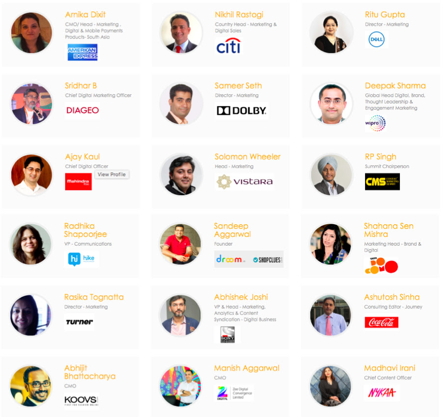 Speakers at CMS Asia 2018